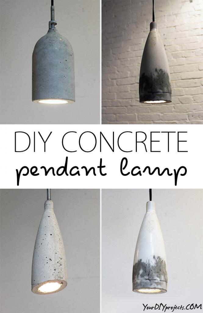 DIY Concrete Pendant Lamp