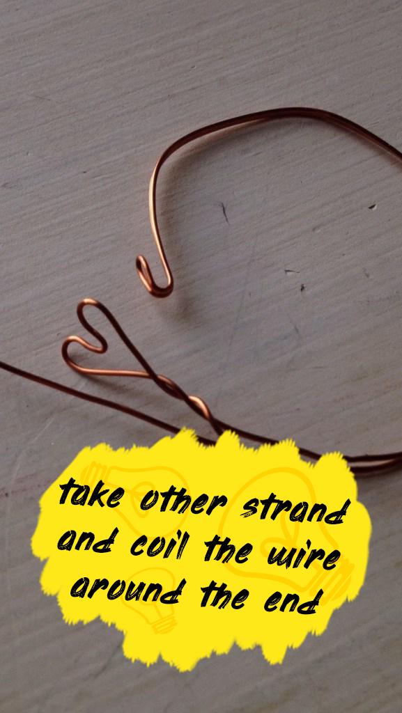 Copper Wire Heart Bracelet in Under 5 Minutes