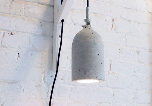 Modern Concrete Pendant Lamp DIY
