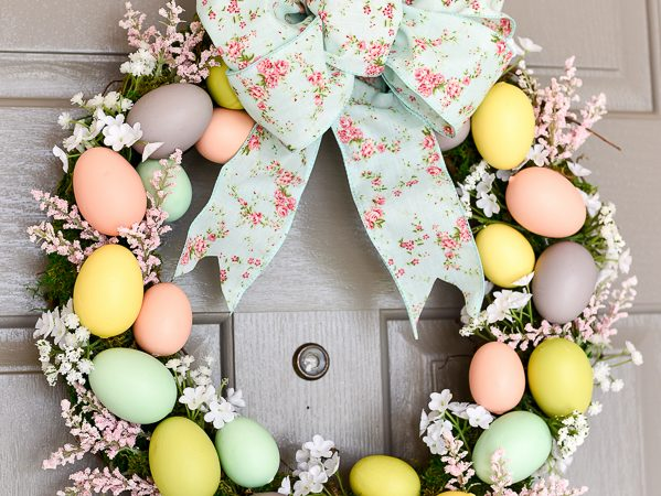 Easter Egg Wreath DIY – Moss, Flowers and Eggs