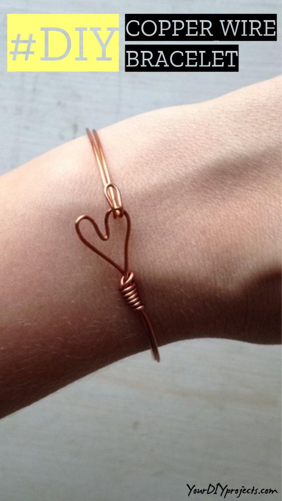 Copper Wire Heart Bracelet