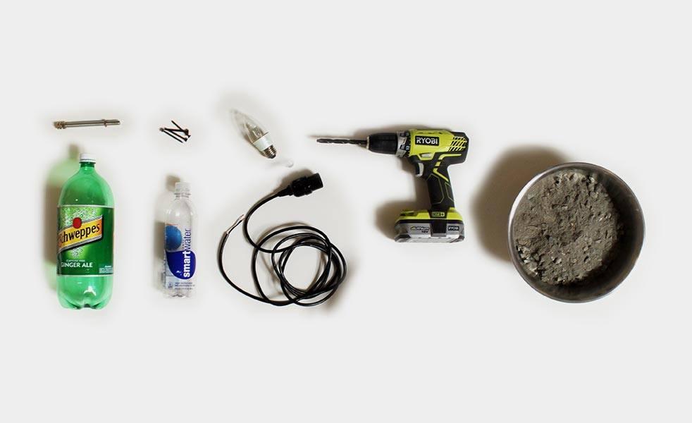 Cement Light DIY Materials
