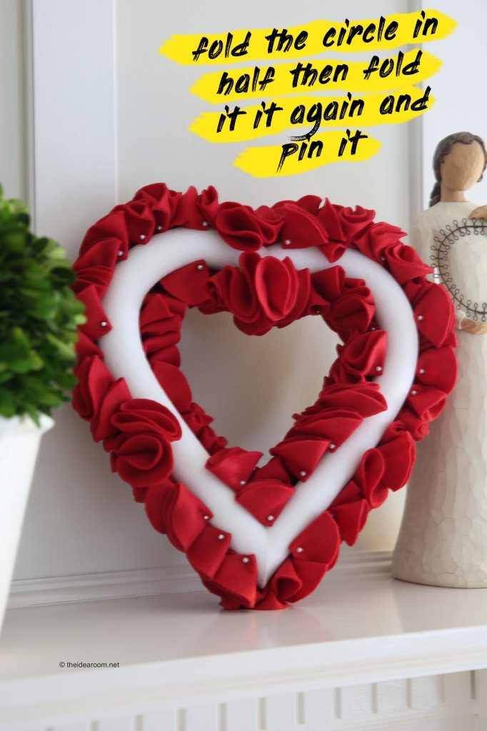 heart wreath diy steps