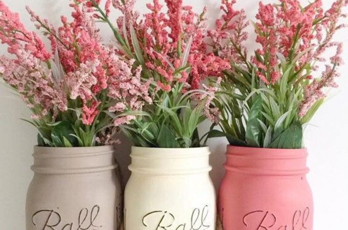 DIY Mason Jars for Spring Decoration