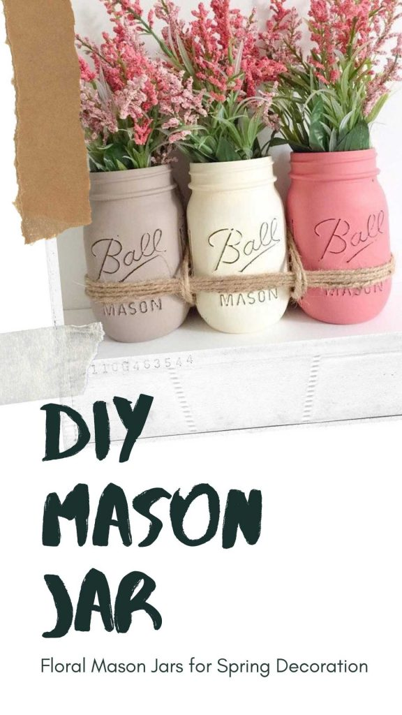 Click to check out these easy to do Mason Jars! Distressed and dishwasher proof. #diy #masonjar #mason #jar #diymasonjar #crafts #craftsmasonjar